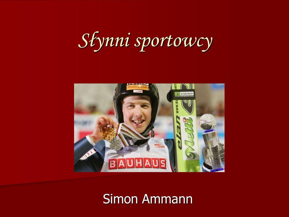 Słynni sportowcy Simon Ammann