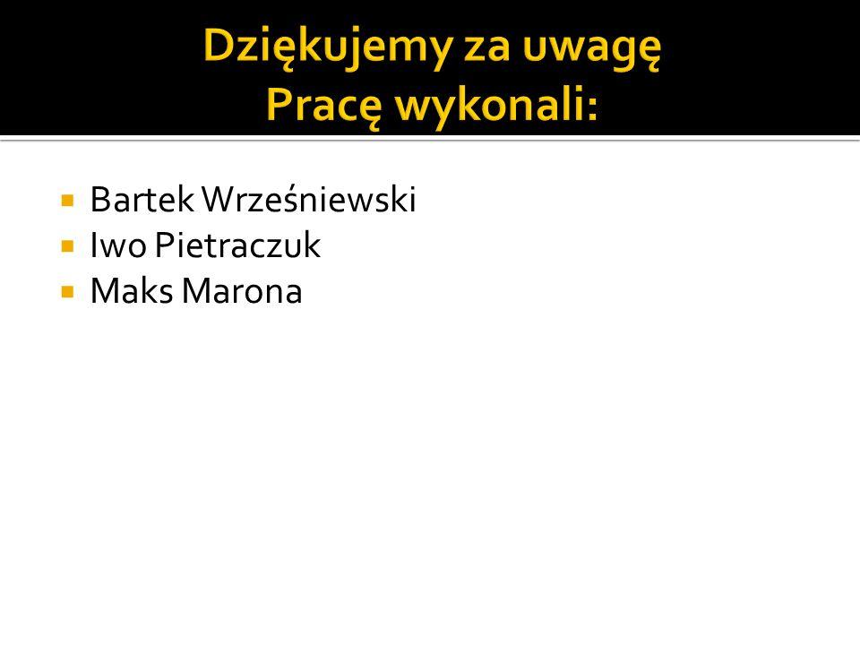  Bartek Wrześniewski  Iwo Pietraczuk  Maks Marona