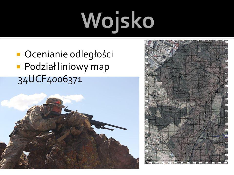  Ocenianie odległości  Podział liniowy map 34UCF4006371