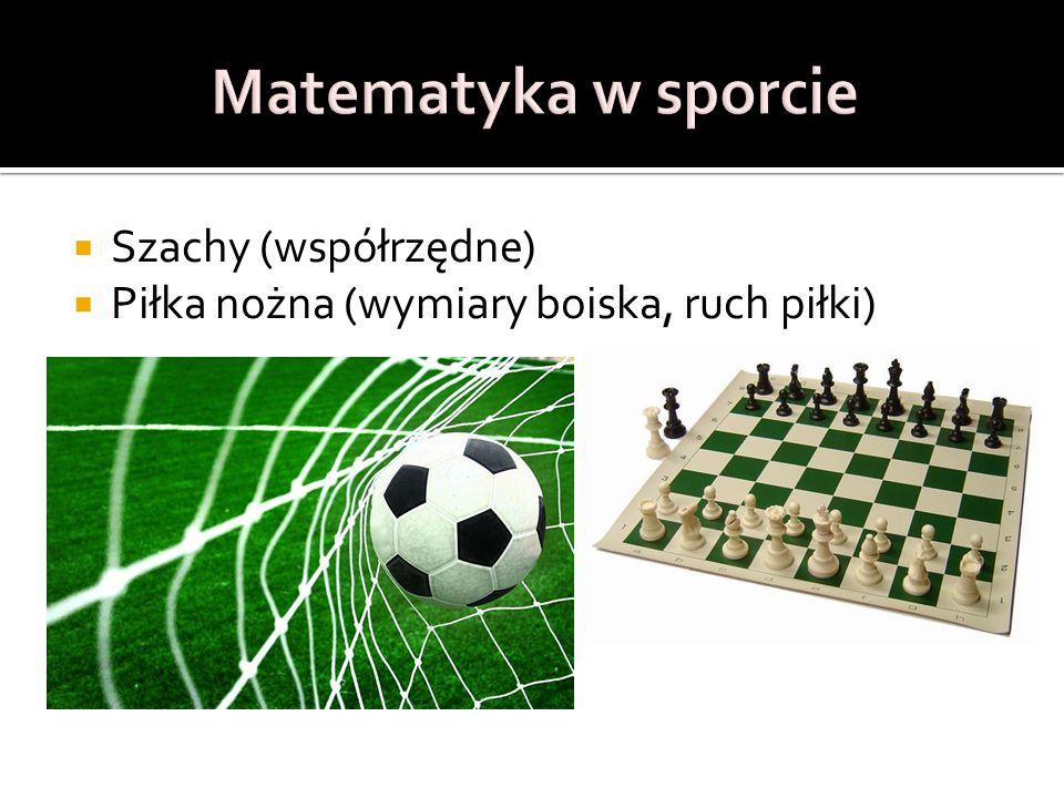  Szachy (współrzędne)  Piłka nożna (wymiary boiska, ruch piłki)