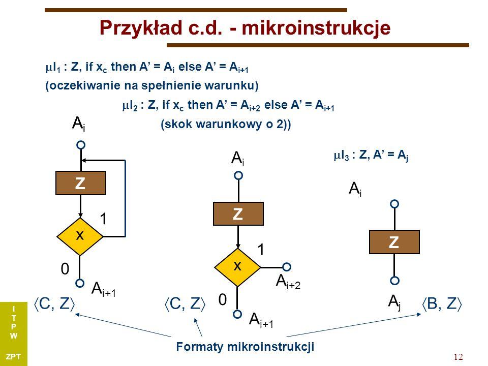 I T P W ZPT 12 Przykład c.d.