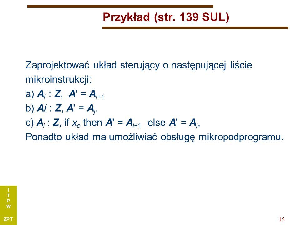 I T P W ZPT 15 Przykład (str.