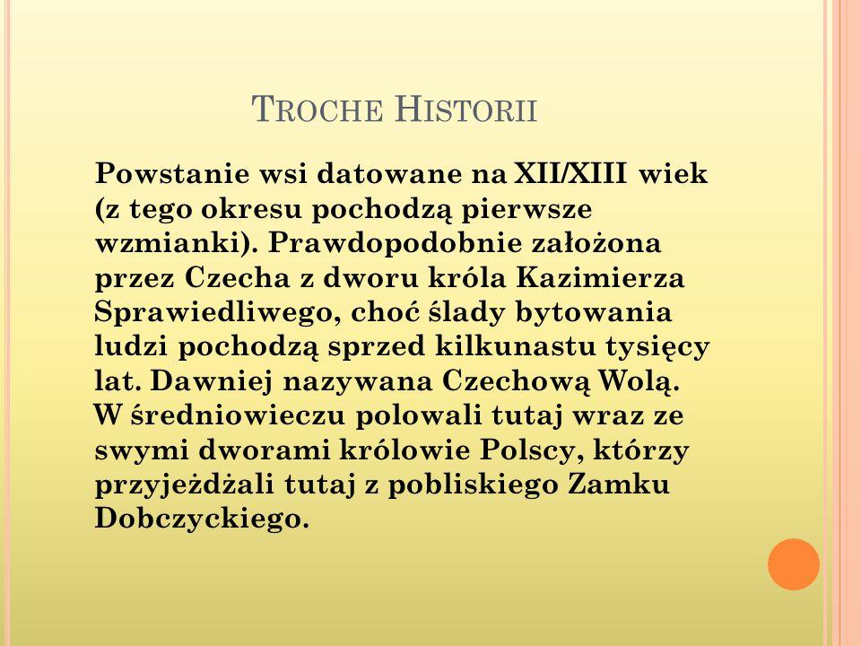 T ROCHE H ISTORII Powstanie wsi datowane na XII/XIII wiek (z tego okresu pochodzą pierwsze wzmianki).