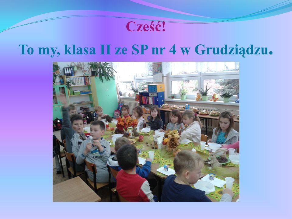 Cześć! To my, klasa II ze SP nr 4 w Grudziądzu.