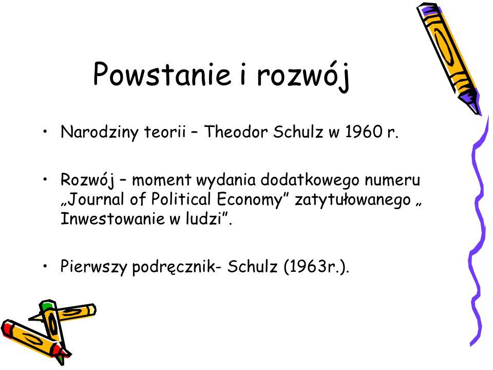 Powstanie i rozwój Narodziny teorii – Theodor Schulz w 1960 r.