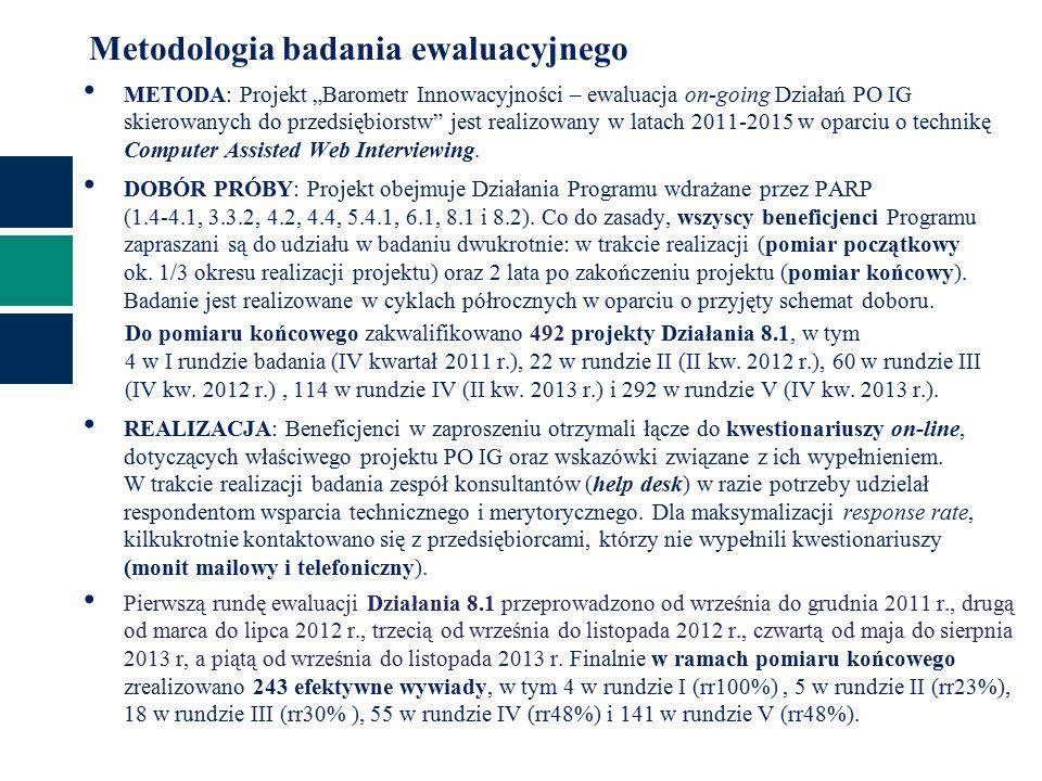 Efekty projektu (1) Czy od momentu rozliczeniu projektu dofinansowanego z Działania 8.1… n=243 pyt.