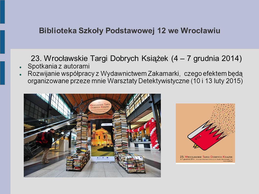Biblioteka Szkoły Podstawowej 12 we Wrocławiu 23.