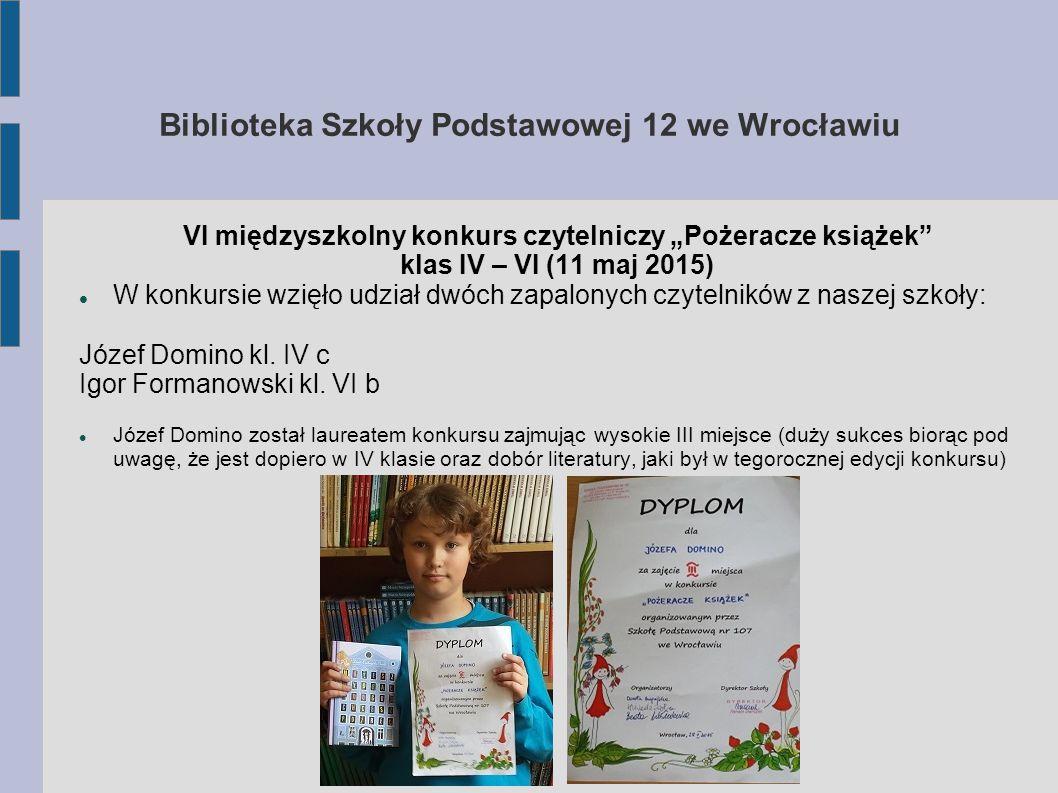 Biblioteka Szkoły Podstawowej 12 we Wrocławiu Edukacja filmowa Uczniowie biorą udział w zorganizowanych w Multikinie projekcjach filmów dla dzieci i młodzieży połączonych z prelekcją 20 maja 2015r.