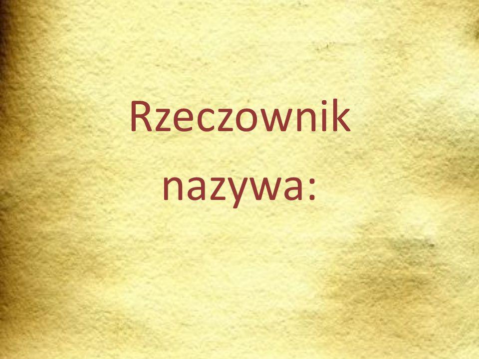Czynności Istnieją rzeczowniki, które podobnie jak czasowniki nazywają czynności.