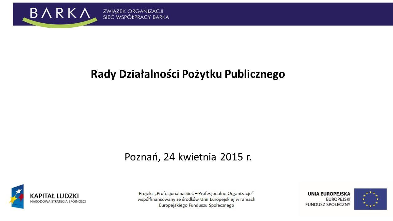 Rady Działalności Pożytku Publicznego Poznań, 24 kwietnia 2015 r.