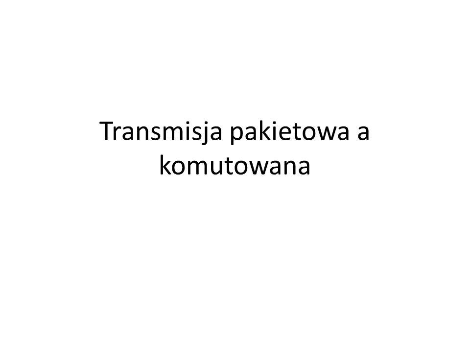 Transmisja z komutacją połączeń Przykład sieci z komutacją połączeń (np.