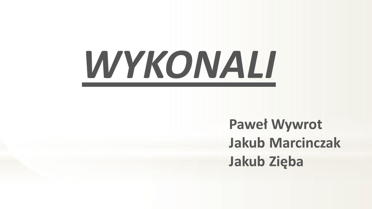 WYKONALI Paweł Wywrot Jakub Marcinczak Jakub Zięba