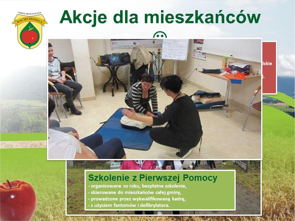 Akcje dla mieszkańców Marsz Seniora (Marsz dla zdrowia) - ponad 360 uczestników uczestniczyło w VII Zlocie Edukacyjnym - Droga do zdrowia z TKKF- Akty