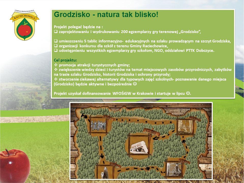 """Grodzisko - natura tak blisko! Projekt polegać będzie na :  zaprojektowaniu i wydrukowaniu 200 egzemplarzy gry terenowej """"Grodzisko"""",  umieszczeniu"""
