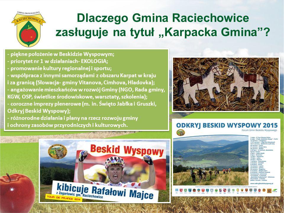 - piękne położenie w Beskidzie Wyspowym; - priorytet nr 1 w działaniach- EKOLOGIA; - promowanie kultury regionalnej i sportu; - współpraca z innymi sa