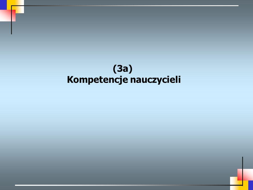 (3a) Kompetencje nauczycieli