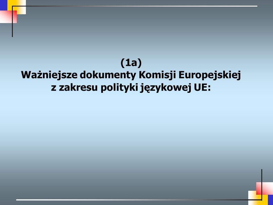 """RokNazwa skrócona dokumentu 2008  """"Wielojęzyczność: atut dla Europy i wspólne zobowiązanie  """"Konkluzje Rady z dnia 22 maja 2008 r."""