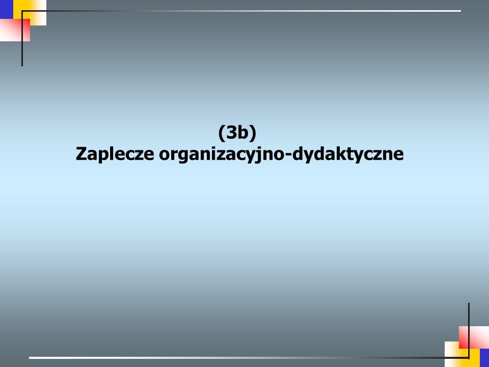(3b) Zaplecze organizacyjno-dydaktyczne