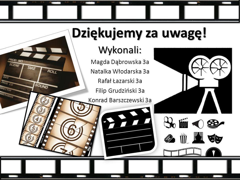 Dziękujemy za uwagę! Wykonali: Magda Dąbrowska 3a Natalka Włodarska 3a Rafał Łazarski 3a Filip Grudziński 3a Konrad Barszczewski 3a