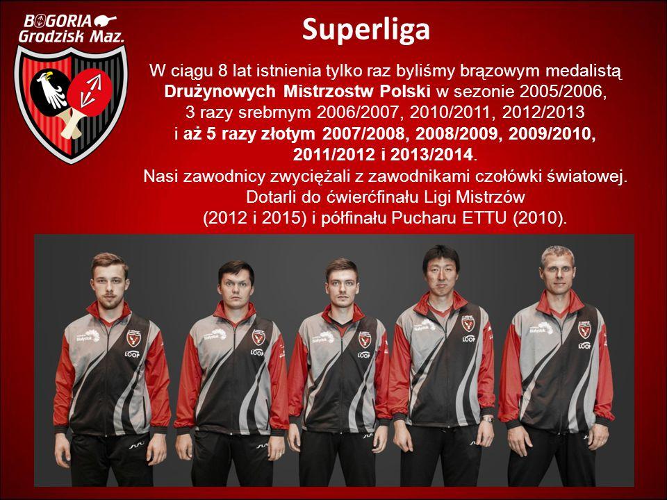 Superliga W ciągu 8 lat istnienia tylko raz byliśmy brązowym medalistą Drużynowych Mistrzostw Polski w sezonie 2005/2006, 3 razy srebrnym 2006/2007, 2