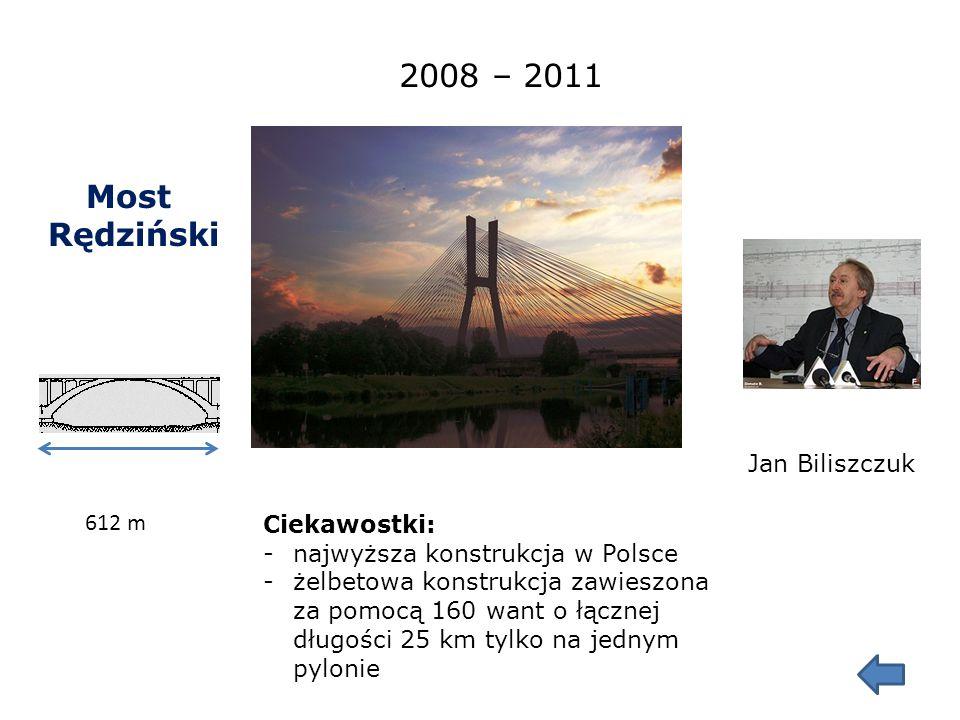 Most Milenijny 289,00 m 2004 Marek Jagiełło W bezpośrednim sąsiedztwie mostu wyznaczono przebieg 17. południka długości geograficznej wschodniej