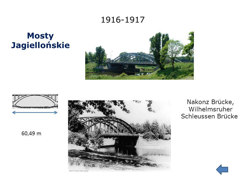 Mosty Trzebnickie 1904-1905 143,7 m Alfred von Scholtz Rosenthaler Brücke U mojego nabrzeża stoi słup graniczny miasta Wrocławia z lat 1900-1901