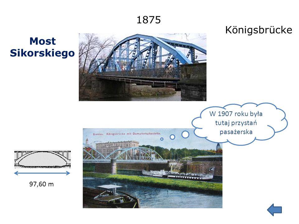 Mosty Jagiellońskie 60,49 m 1916-1917 Nakonz Brücke, Wilhelmsruher Schleussen Brücke
