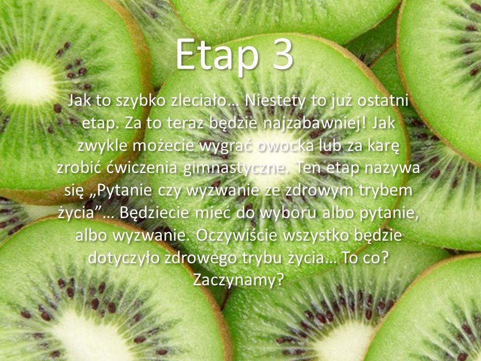 Etap 3 Jak to szybko zleciało… Niestety to już ostatni etap.