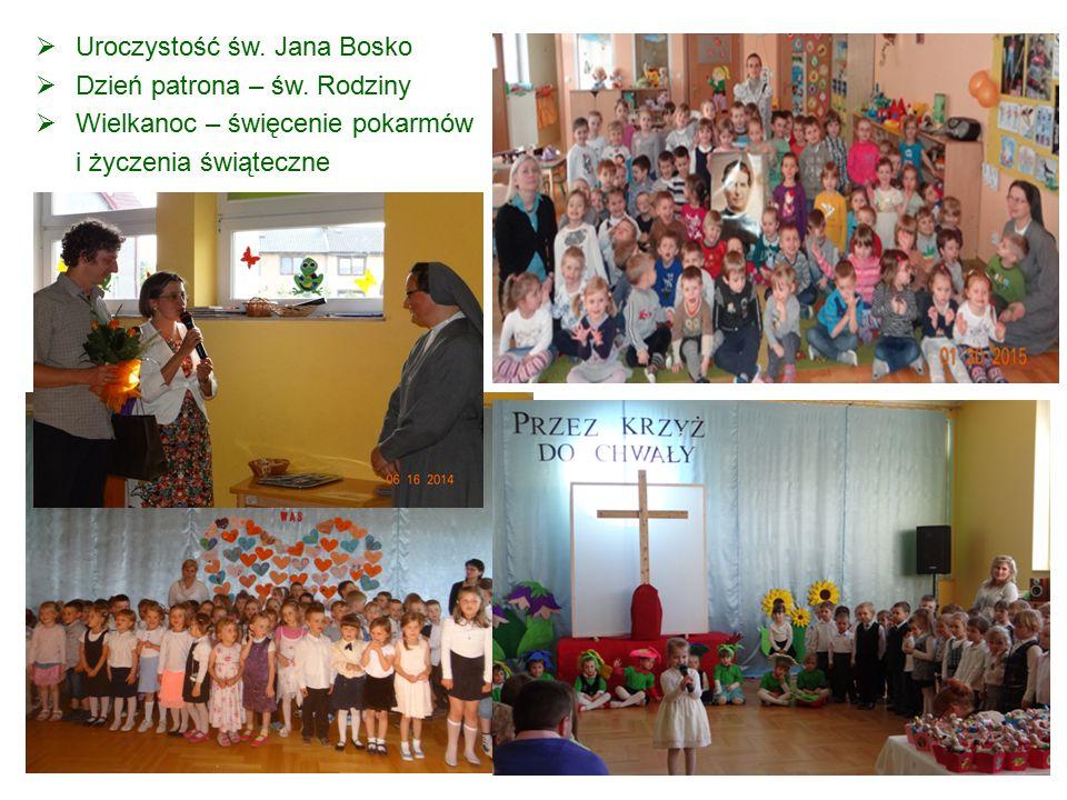  Uroczystość św. Jana Bosko  Dzień patrona – św. Rodziny  Wielkanoc – święcenie pokarmów i życzenia świąteczne