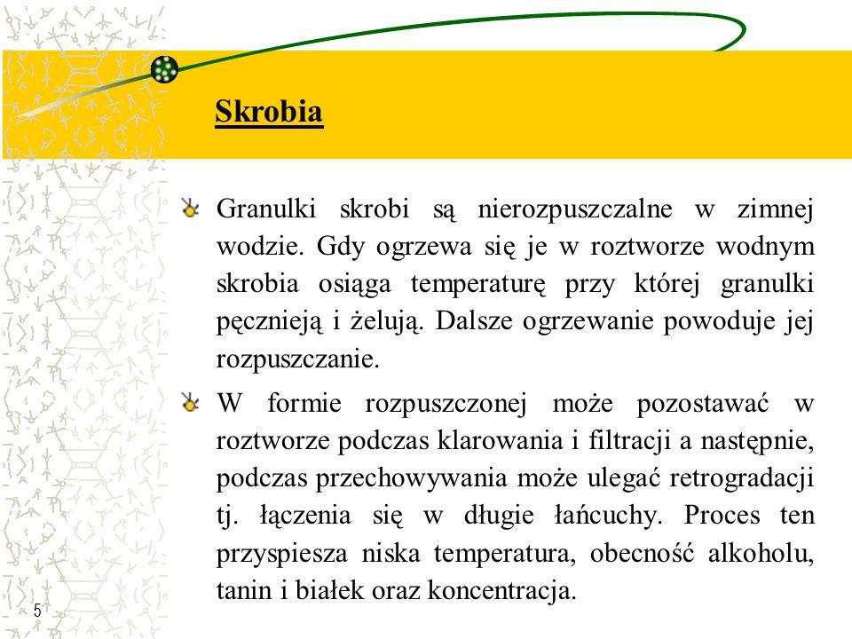 6 W przypadku obecności granulek skrobi w soku należy hydrolizować je enzymem amylazą lub usuwać przez wirowanie lub osadzanie przed pasteryzacją.
