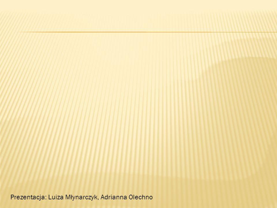 Prezentacja: Luiza Młynarczyk, Adrianna Olechno