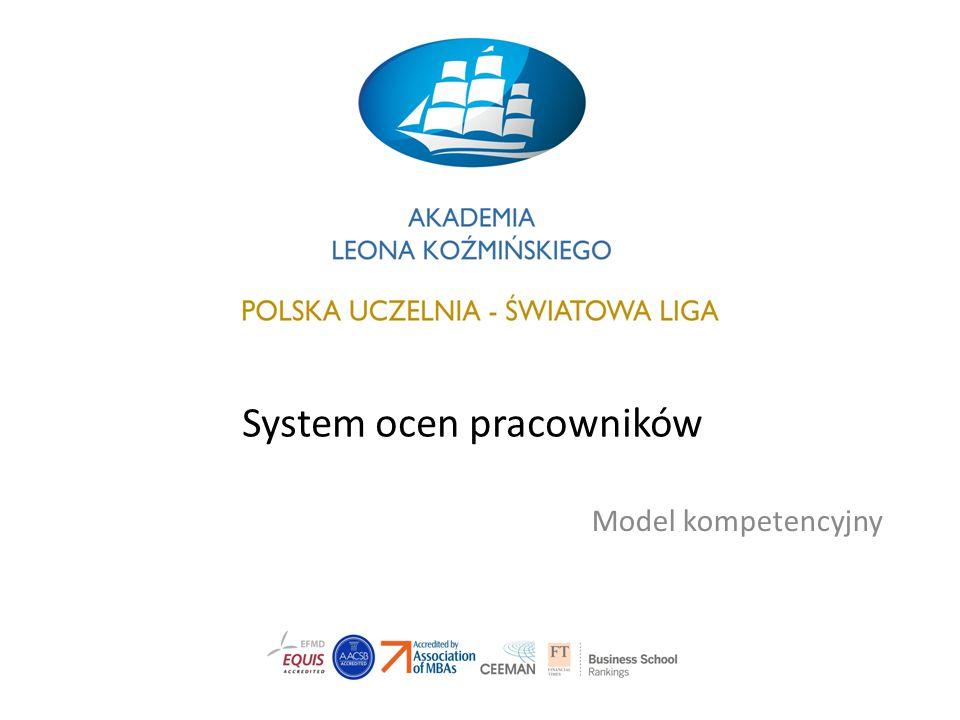 System ocen pracowników Model kompetencyjny