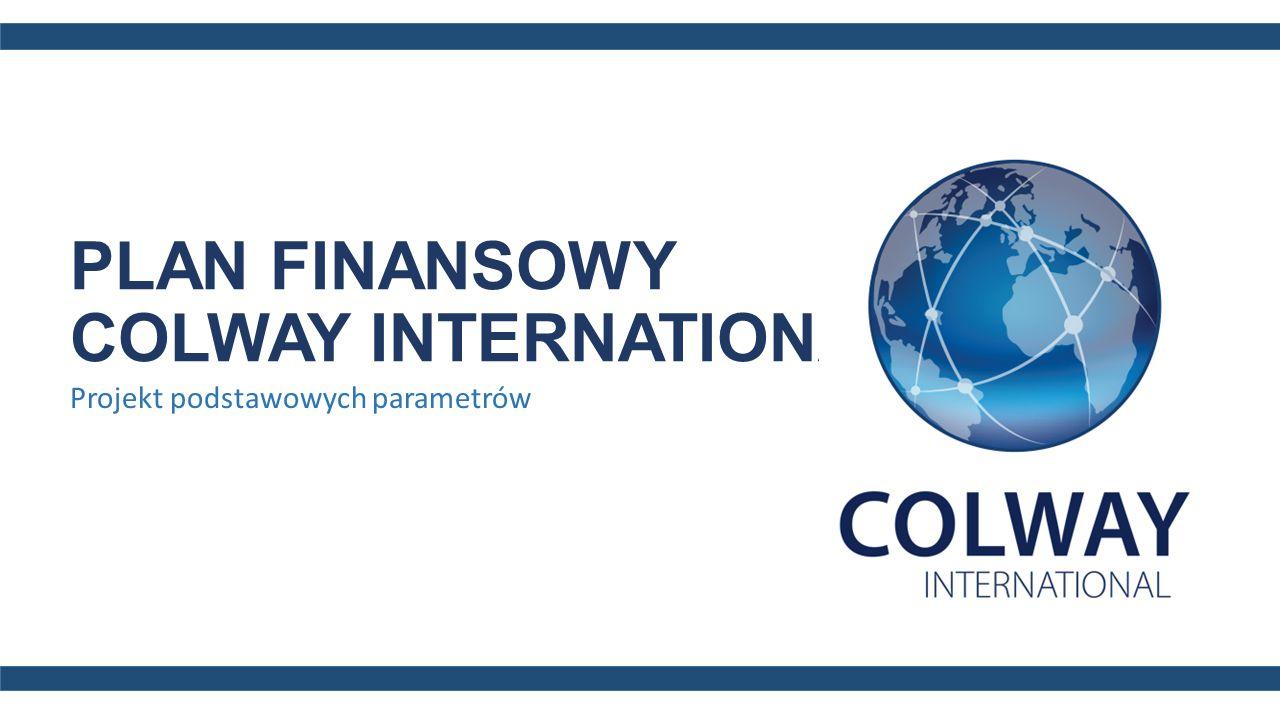 PLAN FINANSOWY COLWAY INTERNATIONAL Projekt podstawowych parametrów