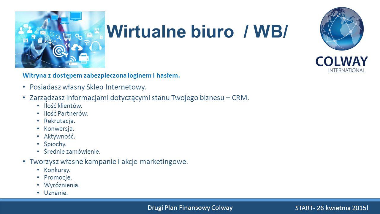 Drugi Plan Finansowy Colway Wirtualne biuro / WB/ Posiadasz własny Sklep Internetowy. Zarządzasz informacjami dotyczącymi stanu Twojego biznesu – CRM.