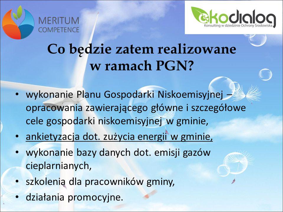 Co będzie zatem realizowane w ramach PGN.