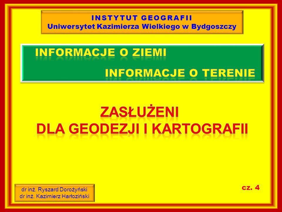 INSTYTUT GEOGRAFII Uniwersytet Kazimierza Wielkiego w Bydgoszczy dr inż.