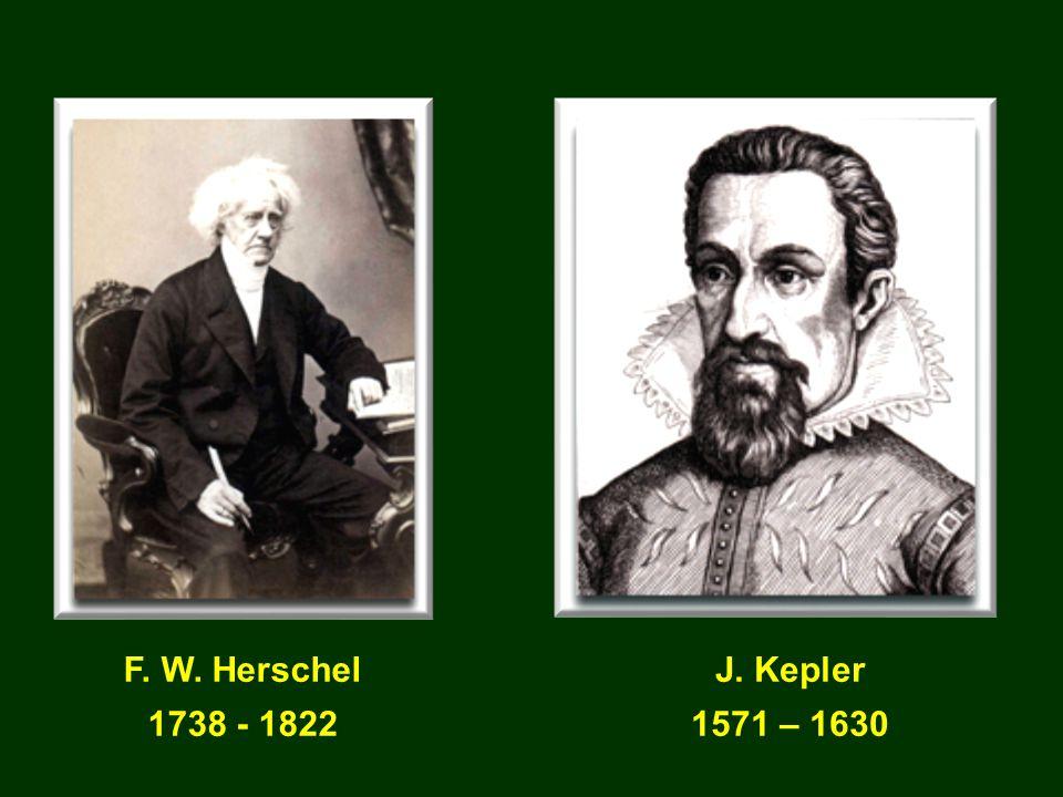 F. W. Herschel 1738 - 1822 J. Kepler 1571 – 1630