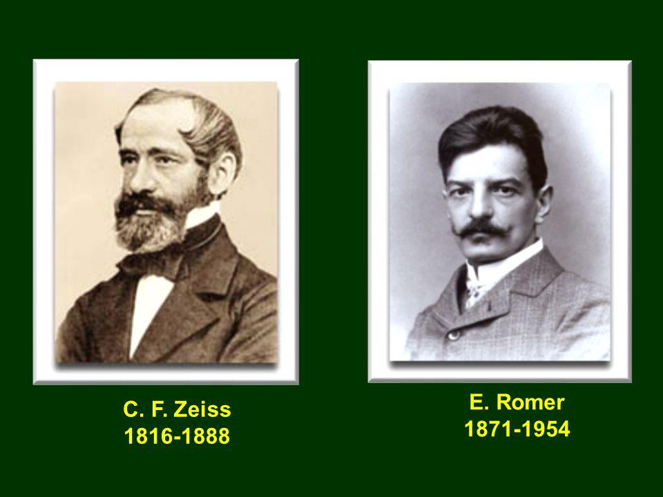C. F. Zeiss 1816-1888 E. Romer 1871-1954