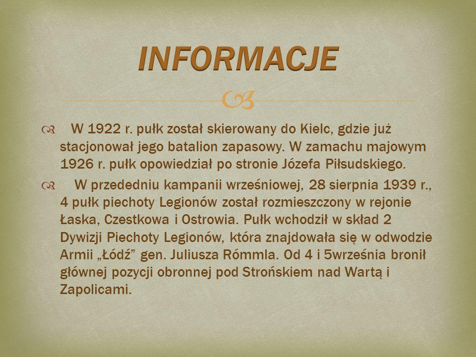   Podczas formowania 4 Pułku Piechoty Legionów pododdziały pułku przejawiały dużą aktywność bojową na froncie polsko-ukraińskim, głównie na linii Przemyśl-Lwów oraz w rejonie Lwowa.
