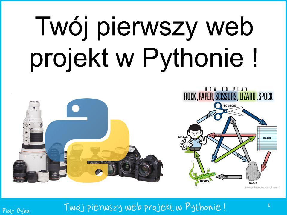 Twój pierwszy web projekt w Pythonie ! 1