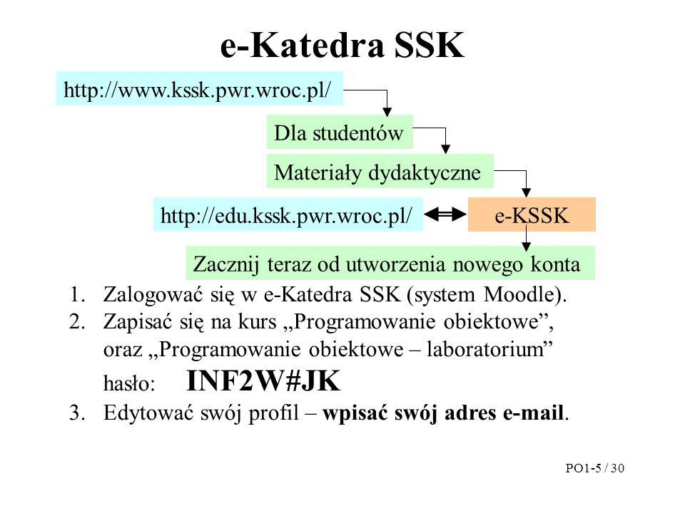 e-Katedra SSK PO1-5 / 30 http://edu.kssk.pwr.wroc.pl/ http://www.kssk.pwr.wroc.pl/ Dla studentów e-KSSK Zacznij teraz od utworzenia nowego konta 1.Zal