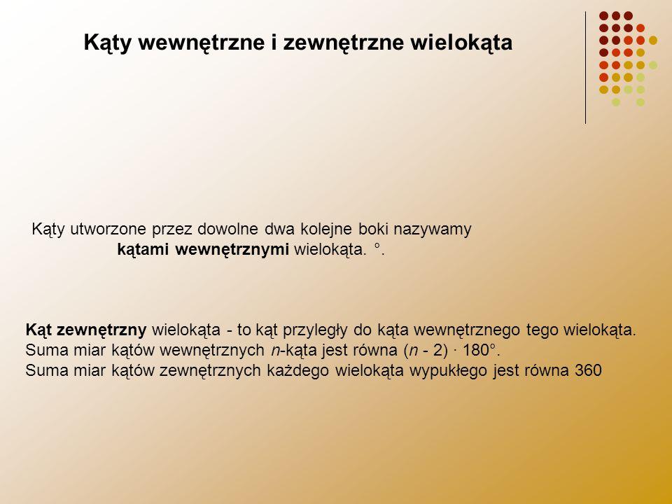 Żródła http://pl.wikipedia.org/wiki/wielokąt http://www.math.edu.pl/wielokąty http://www.megamatma.pl/ http://matematyka.pisz.pl http://matinfa.pl/niezbędnik/wielokąty