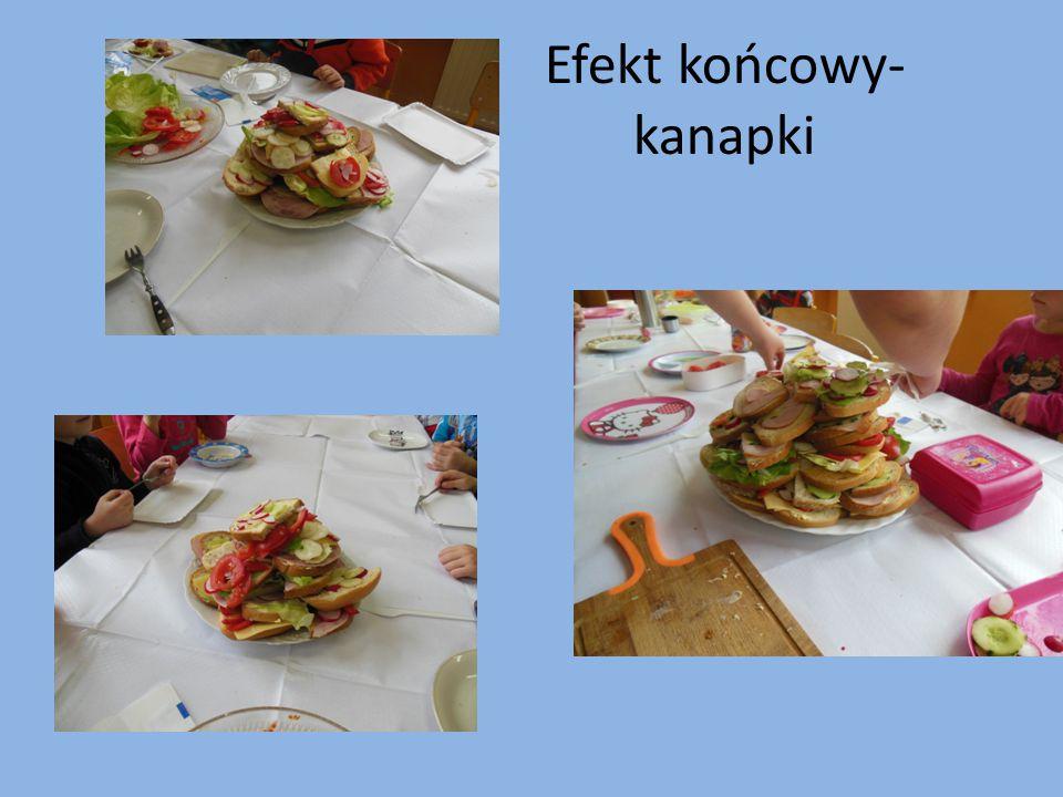 Efekt końcowy- kanapki