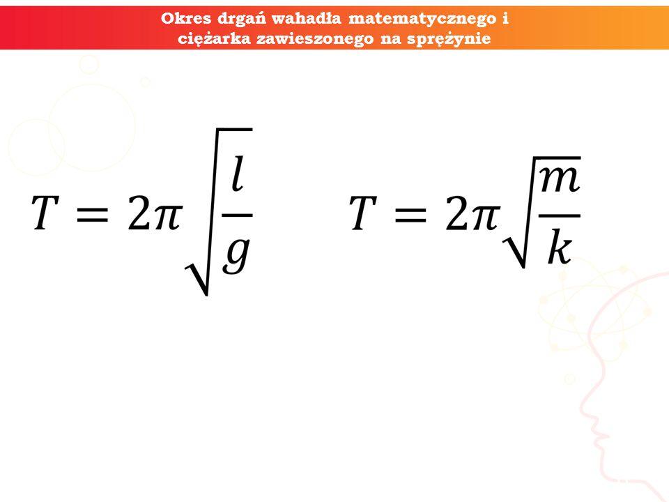 informatyka + 6 Okres drgań wahadła matematycznego i ciężarka zawieszonego na sprężynie