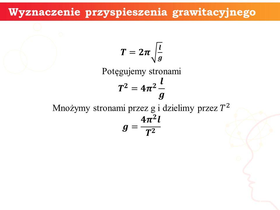 informatyka + 7 Wyznaczenie przyspieszenia grawitacyjnego