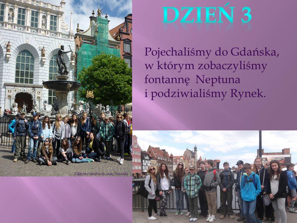 Pojechaliśmy do Gdańska, w którym zobaczyliśmy fontannę Neptuna i podziwialiśmy Rynek.