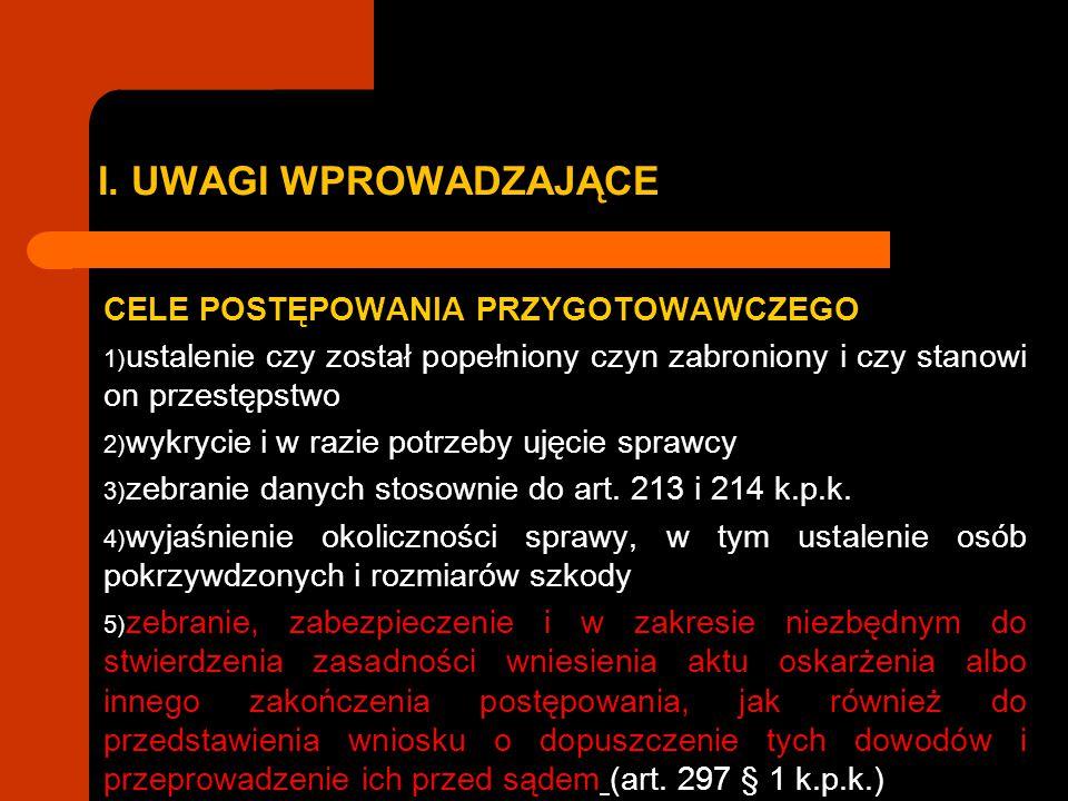 I.UWAGI WPROWADZAJĄCE UWAGA. nowelizacja 20.02.2015 na mocy nowelizacji skreślono art.