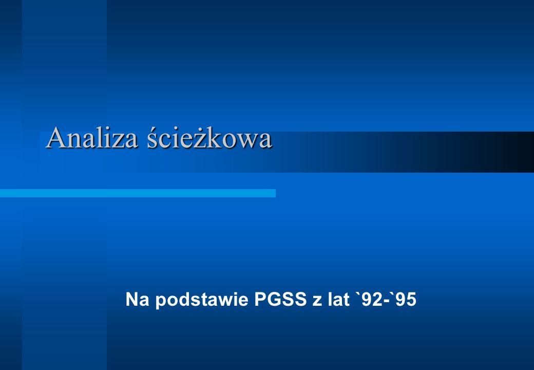 Analiza ścieżkowa Na podstawie PGSS z lat `92-`95