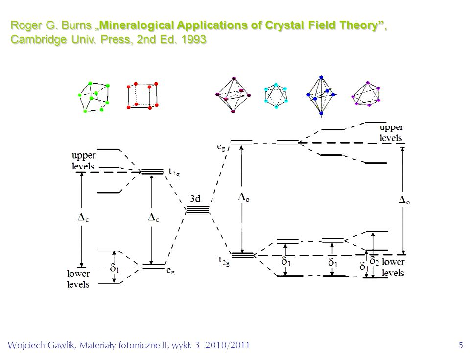 "5 Roger G. Burns ""Mineralogical Applications of Crystal Field Theory , Cambridge Univ."
