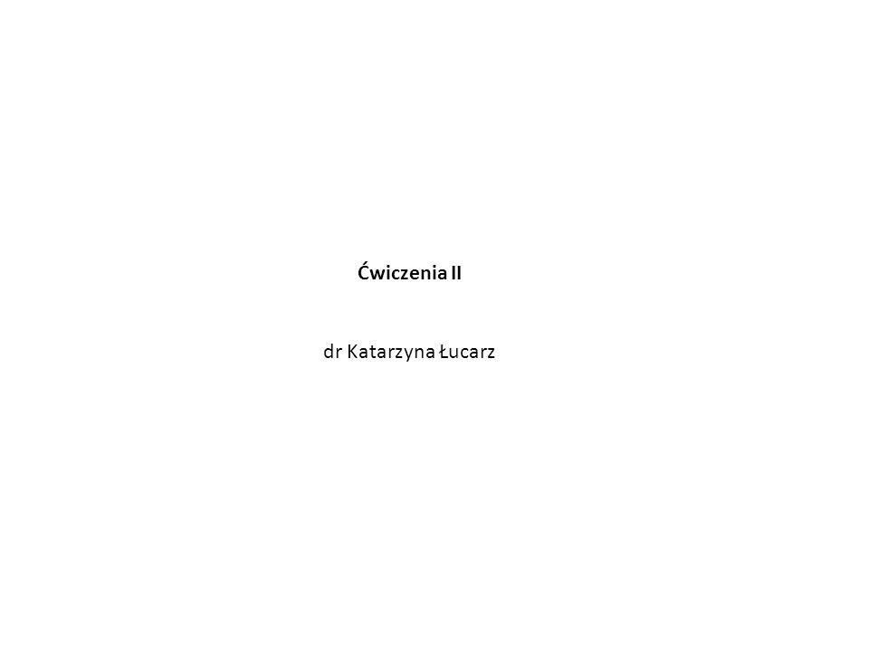 Ćwiczenia II dr Katarzyna Łucarz